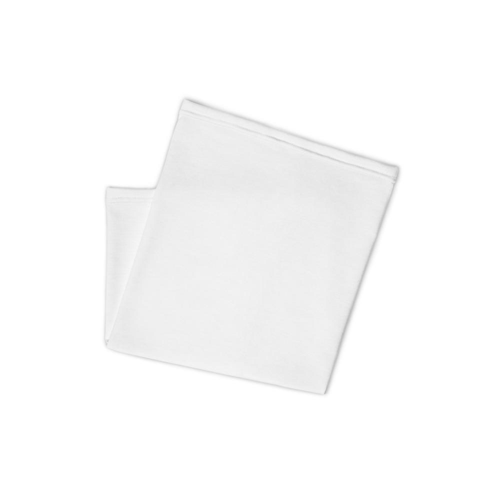 White Neck Gaiter - Folded